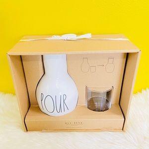 Rae Dunn POUR SIP Water Carafe Set